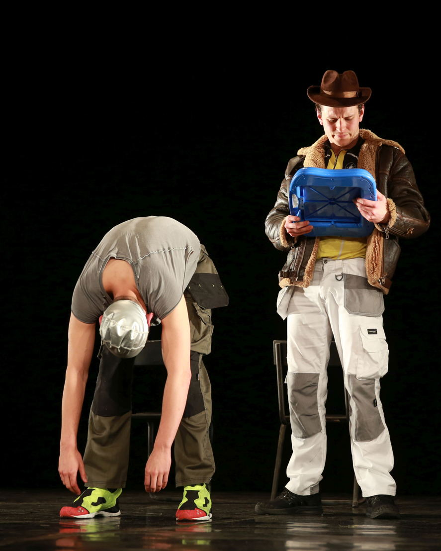 Nathan Parkinson and Tom Roe in Police Cops in Space. Image by Nardus Engelbrecht