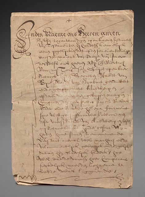 Excerpt from the will of Rubens, 1640, Gaasbeek Castle, ©Photo Lukas - Art in Flanders VZW (www.lukasweb.be)