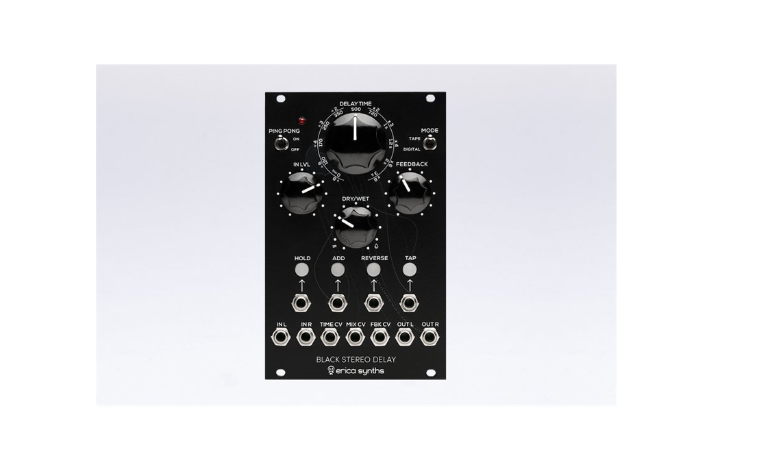 Erica Synths Black Stereo Delay Now Shipping