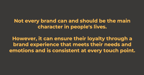 How the Brand Manifests Itself in Customer Experience