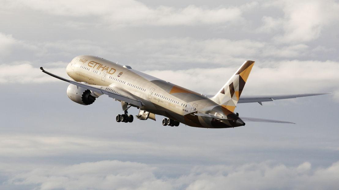 De nieuwe Boeing 787 van Etihad Airways.