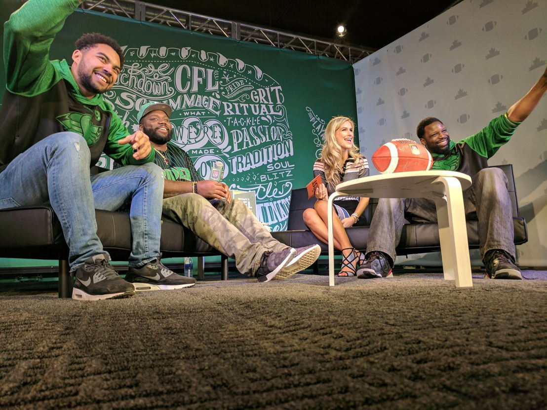 #MarksCFLWeekLive with Brodie Lawson. Photo credit: CFL