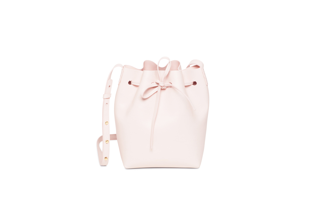 Mansur Gavriel Mini Bucket Rosa 515 euro at Graanmarkt 13