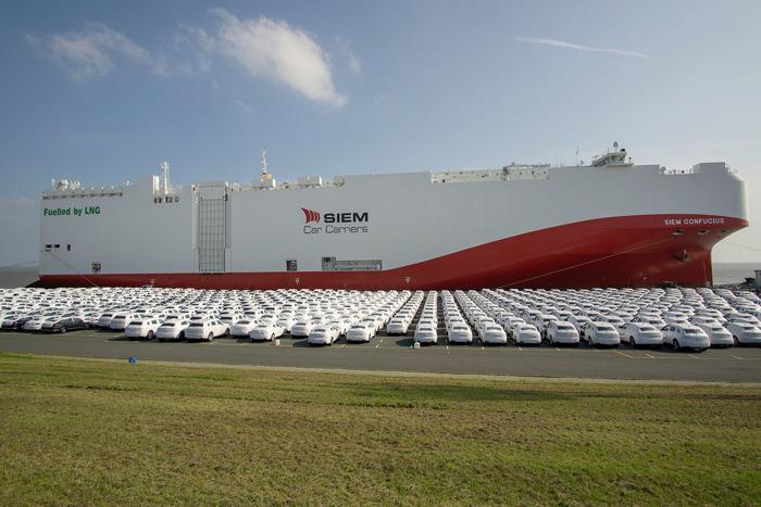 Eerste overzees autovrachtschip met emissiearme lng-aandrijving in dienst van Volkswagen-groep (vertaling)