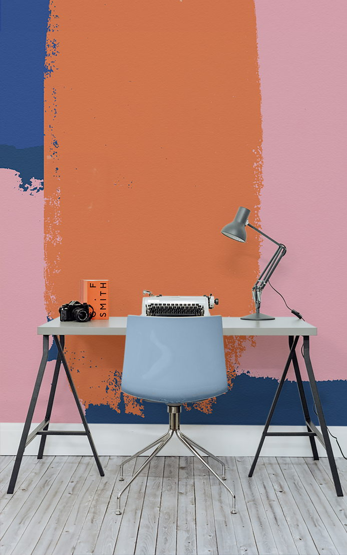 Bright Block Gouache Wall Mural
