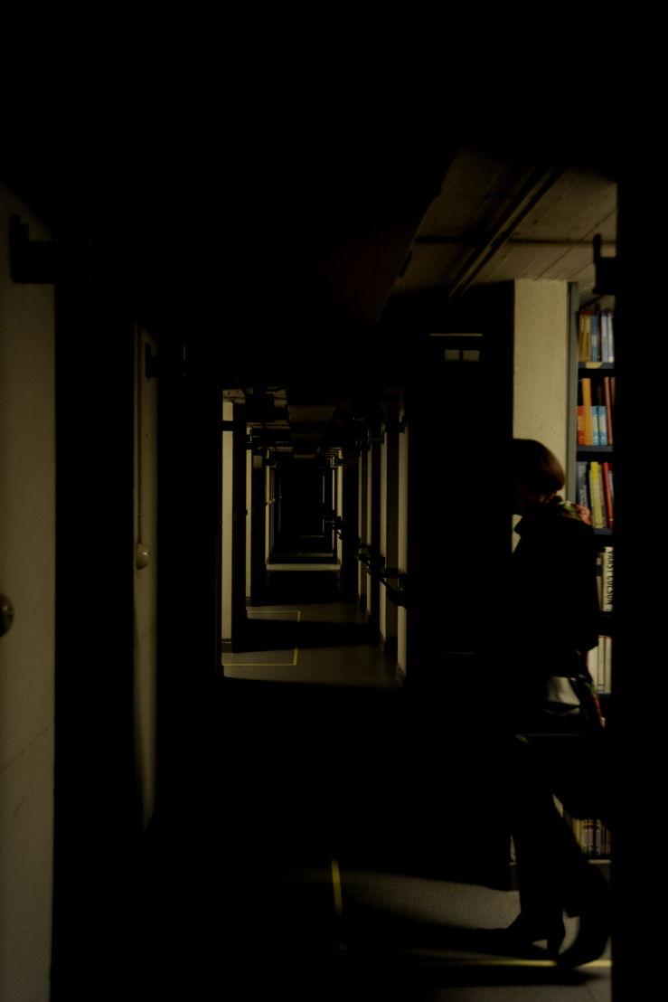 Parcours dans la Tour aux livres © Bibliothèque royale de Belgique
