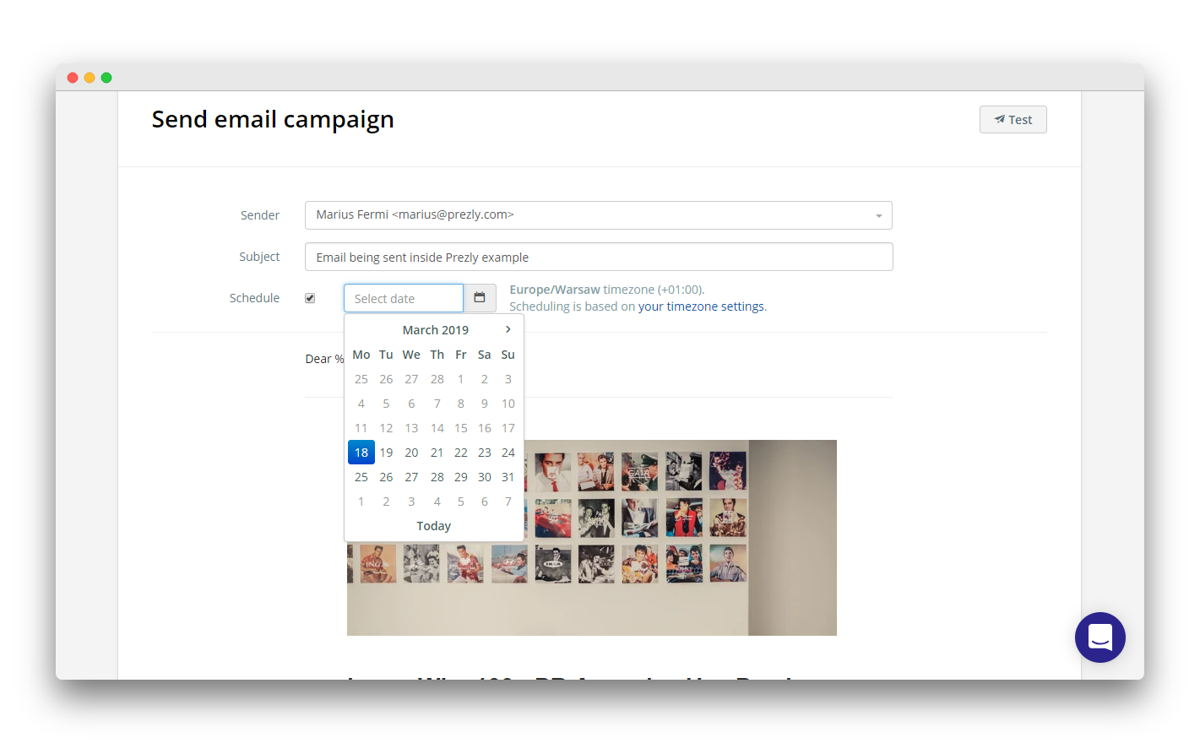 Easily schedule campaign launch dates & times.