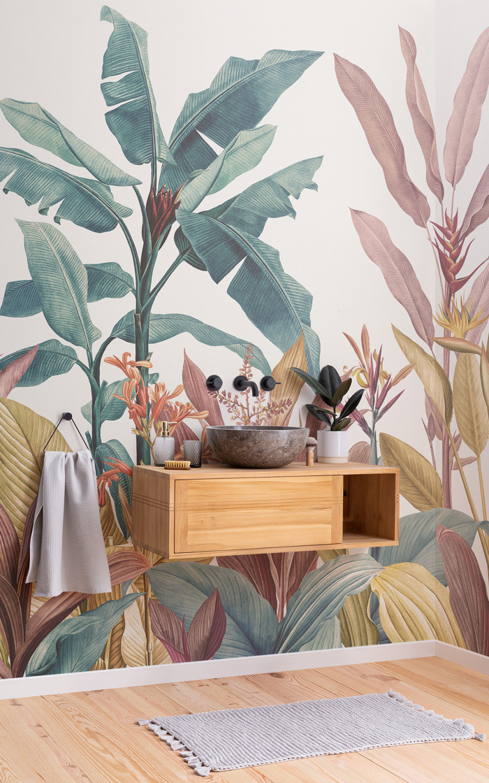Renowned botanical art transformed to wondrous wallpaper designs