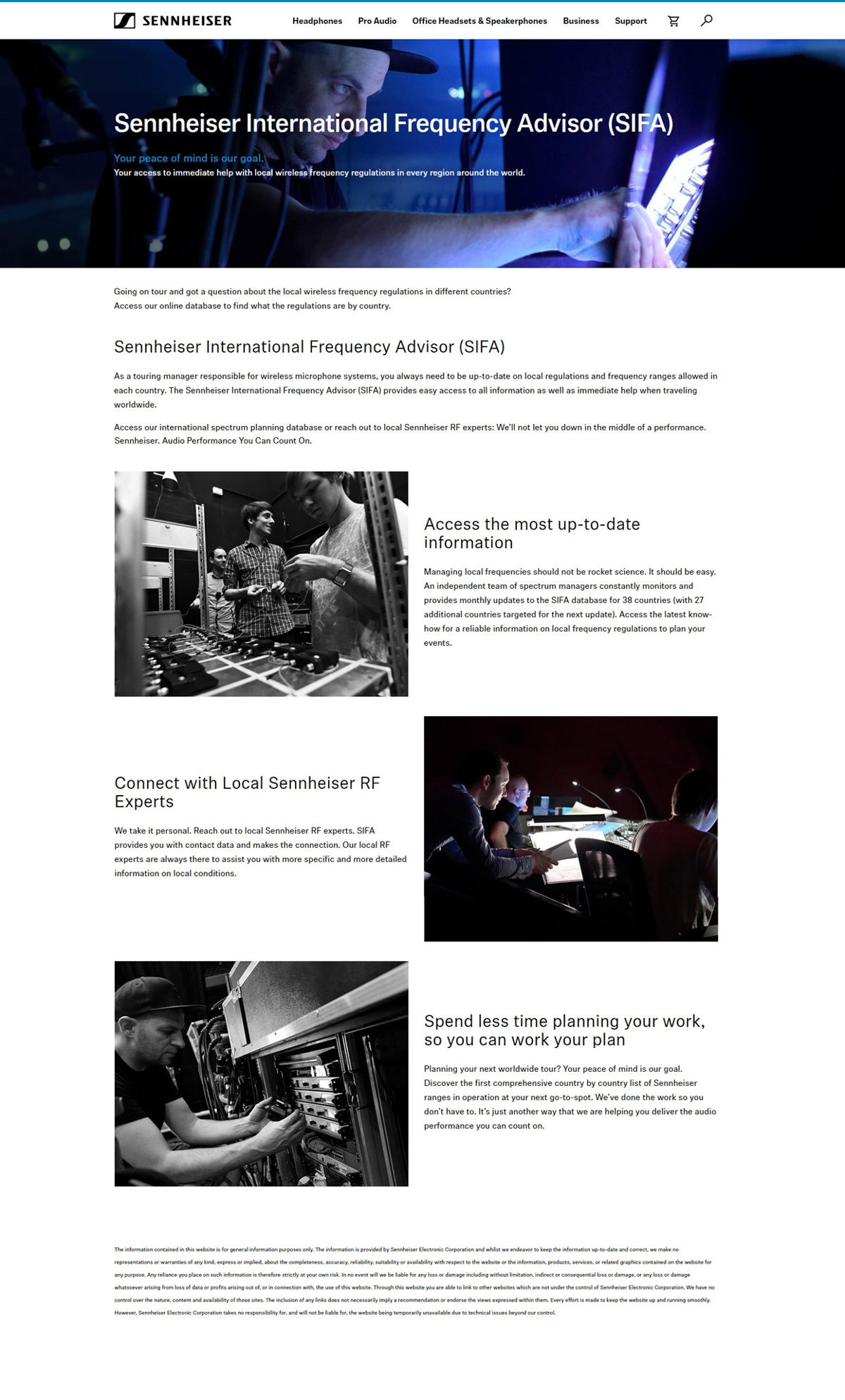 Enhanced Sennheiser website now features international