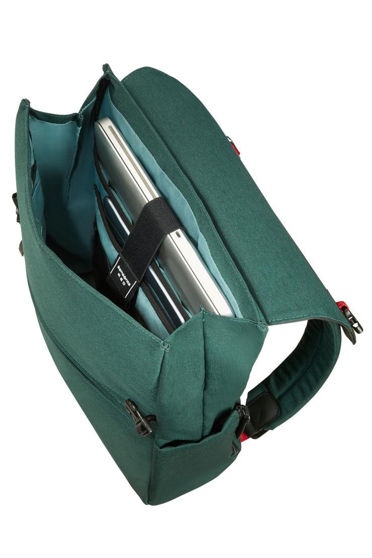 """FLEP_Rugzak M 15.6"""" is beschikbaar in Green en Black aan € 129,-"""