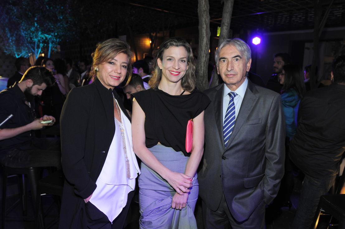 Claudia Salazar, Cristina Botero y Carlos Leyva
