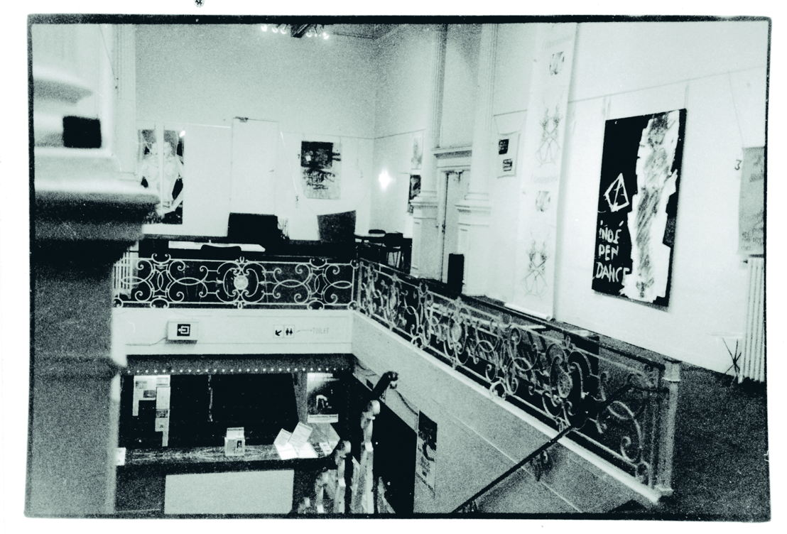 Anne-Mie Van Kerckhoven, tentoonstelling in de foyer, 1978. Foto Anne-Mie Van Kerckhoven