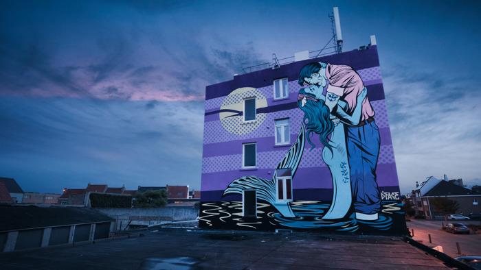 Vier nieuwe werken toegevoegd aan het street art parcours in Oostende