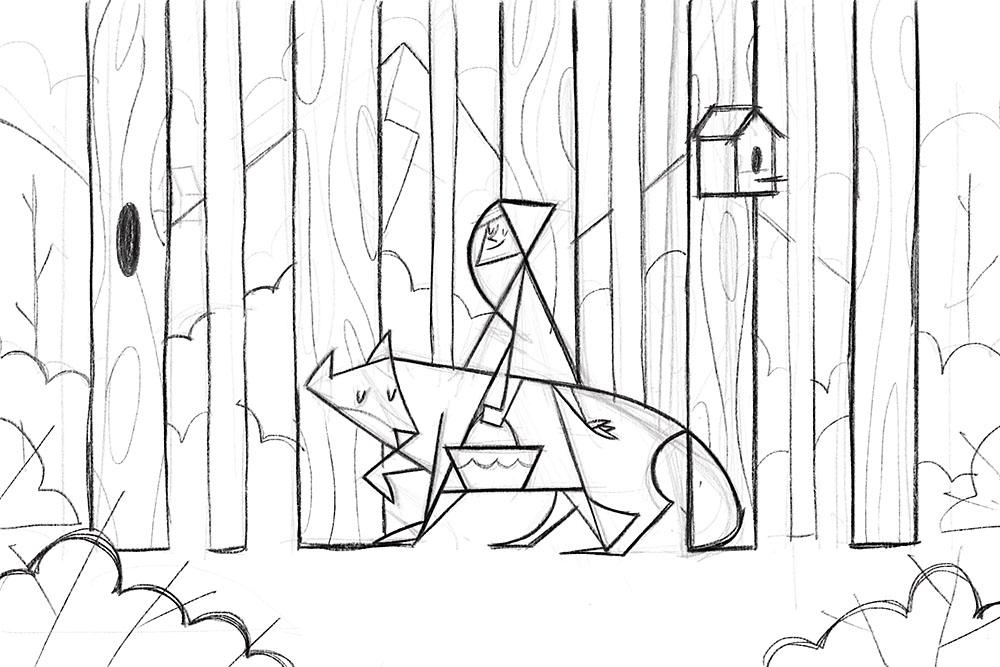 Little Red Riding Hood Original Sketch