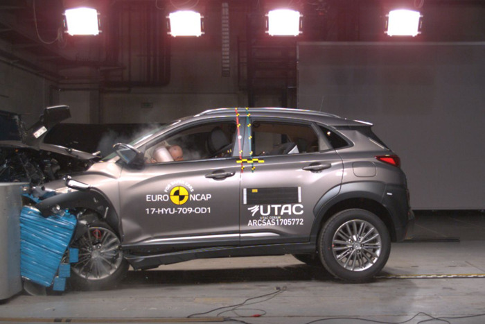 Hyundai Kona achieves maximum five-star Euro NCAP rating
