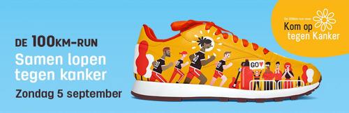 Derde editie 100km-run voor Kom op tegen Kanker levert 1.255.000 euro op