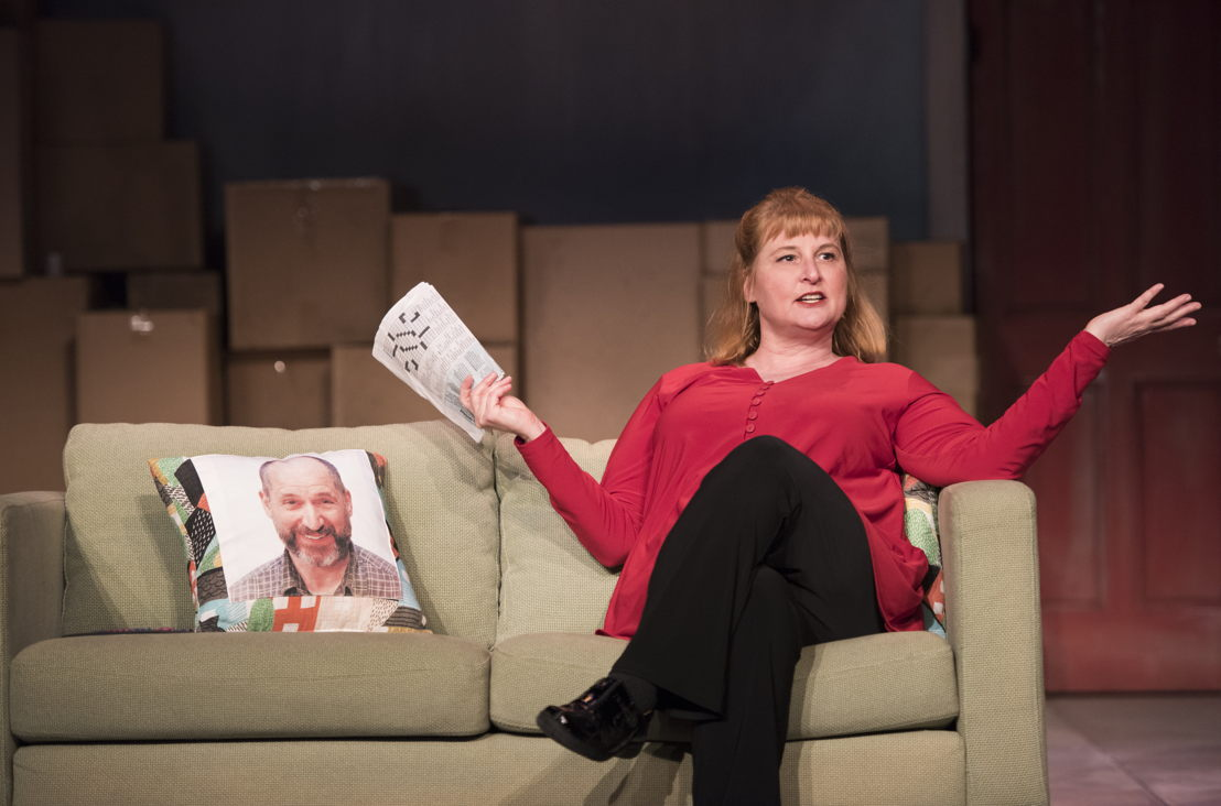 Deborah Williams in the 2016 production of Mom's the Word: Nest ½ Empty. Set and costume design by Pam Johnson and lighting design by Marsha Sibthorpe. Photo by Emily Cooper