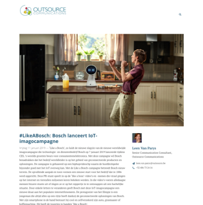 #LikeABosch: Bosch lanceert IoT-imagocampagne