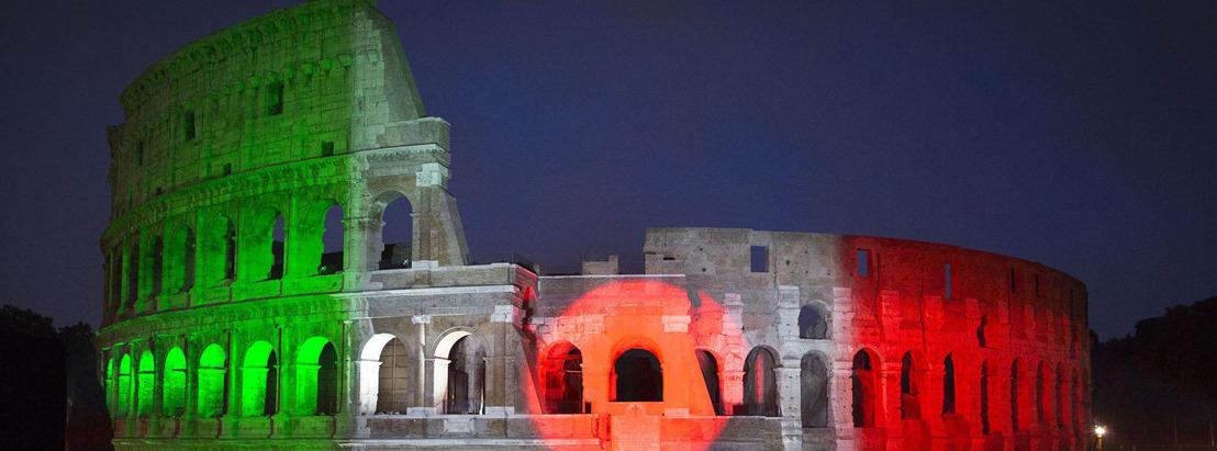 El Coliseo Romano se pinta de colores con Panasonic