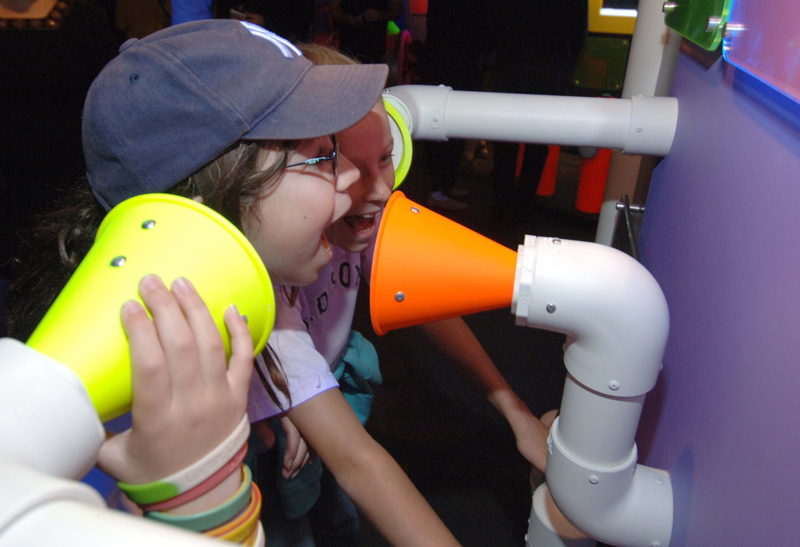 Tube Phones (Photo Credit: Boston Children's Museum)