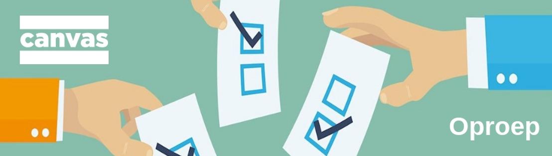 Oproep Canvas | Phara de Aguirre en Nahid Shaikh zoeken getuigen die niet stemmen of blanco stemmen.
