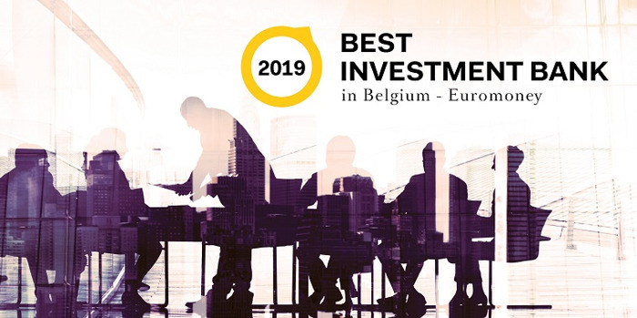 Degroof Petercam door Euromoney uitgeroepen tot 'Belgium's Best Investment Bank 2019'