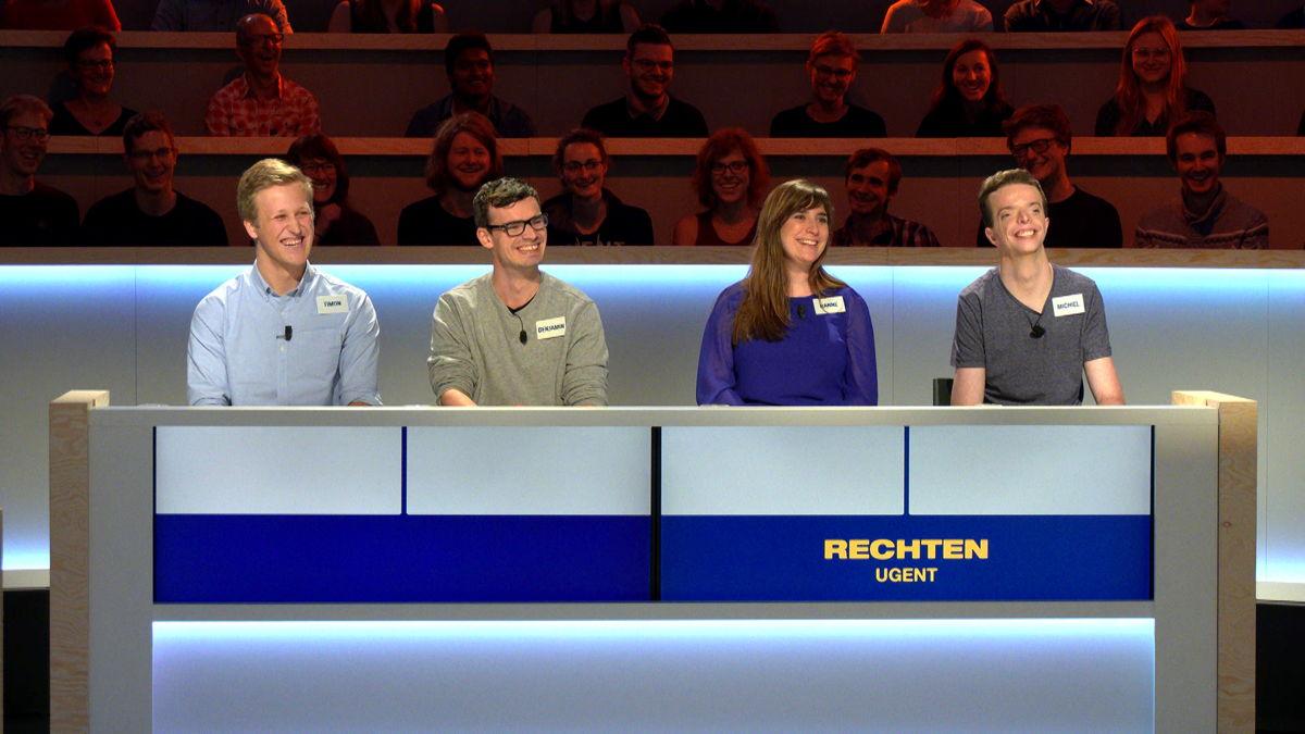 Team Rechten UGent (c) VRT/ Woestijnvis
