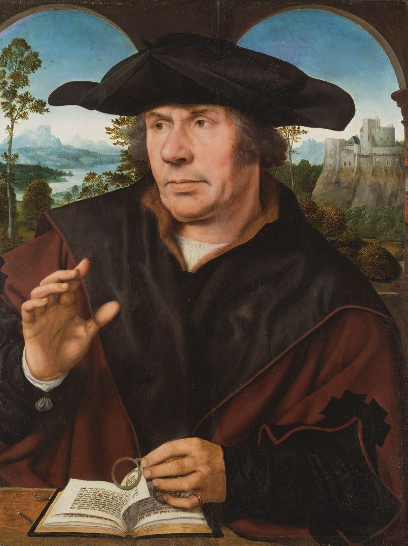 © Quinten Metsys, Portret van een geleerde, ca. 1522/27. Frankfurt am Main, Städel Museum.