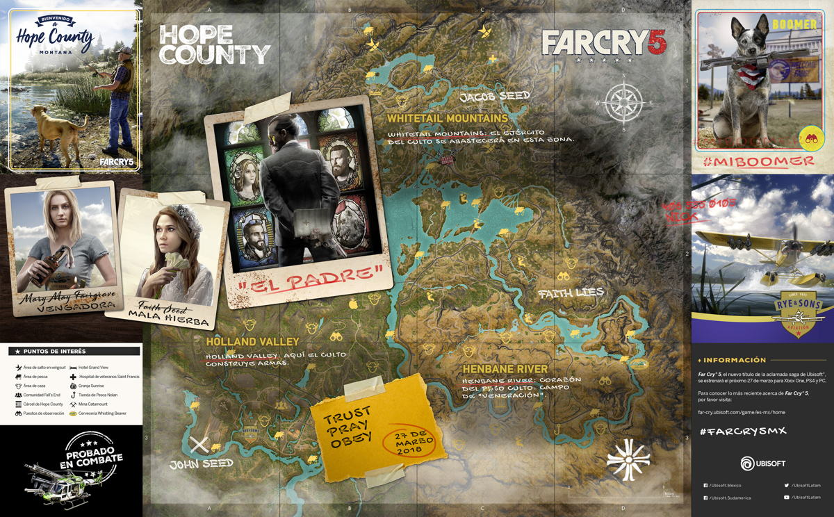 Ubisoft anuncia que Far Cry 5 ¡Ya disponible!