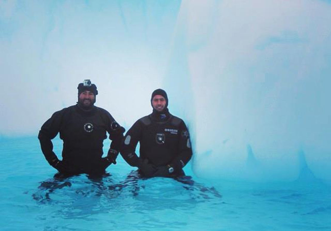 Scientists in Antarctica