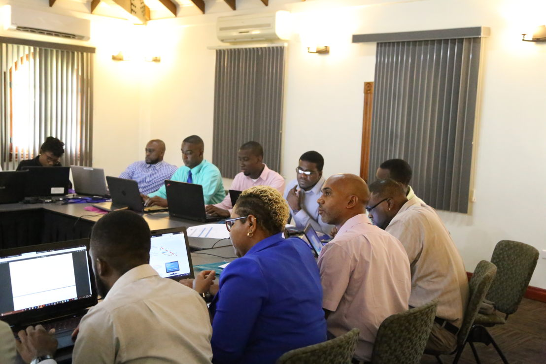 IT managers of the Eastern Caribbean participating to the training on the Clinical Management System