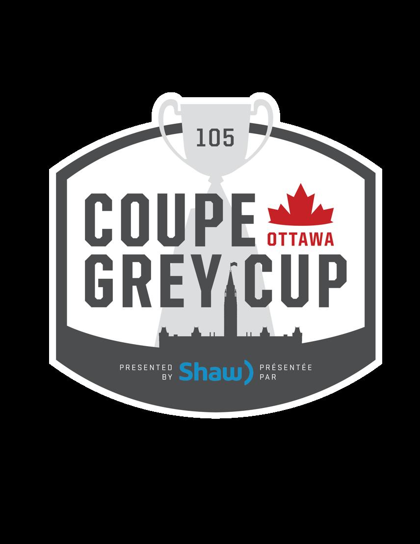 Logo de la 105e Coupe Grey, présentée par Shaw