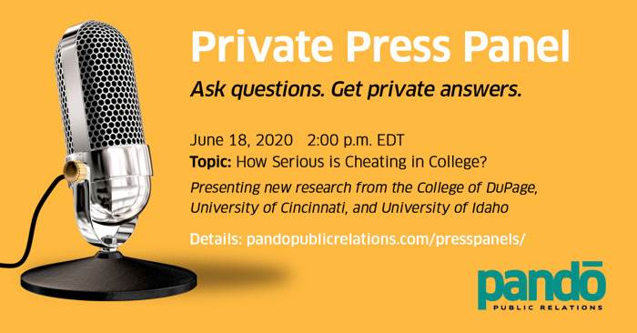 Private Press Panel - How Serious of a Problem is Cheating in College? - June 18
