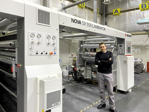 Digital Labels in Jordan improves sustainability and agility with new BOBST solventless laminator