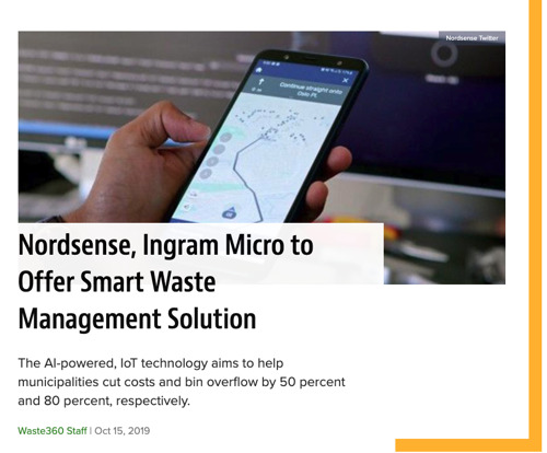 Nordsense, Ingram Micro to Offer Smart Waste Management Solution