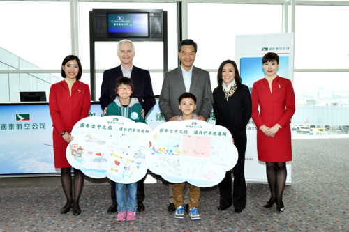 Cathay Pacific community flight fulfils flying dreams of 200 people from less-advantaged families