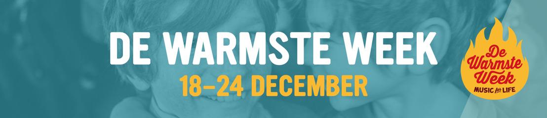 Radio 1, Radio 2, MNM en Studio Brussel sluiten De Warmste Week af als De Warmste Radio