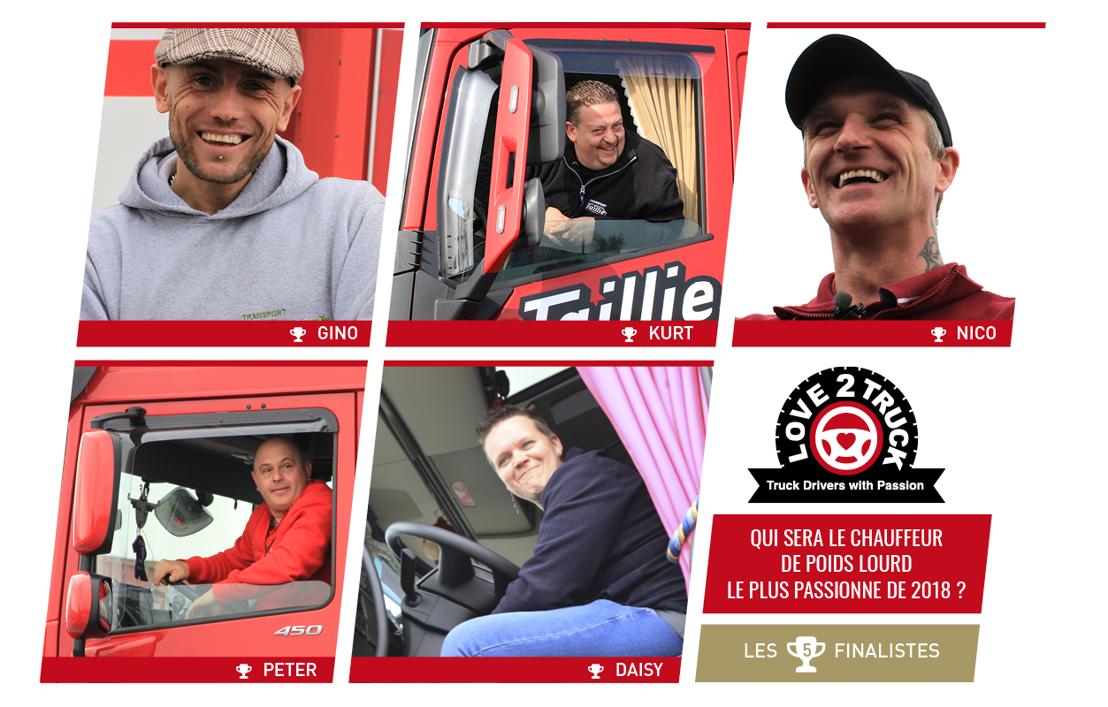 Love2Truck : 4 hommes et 1 femme dans la course au titre de chauffeur routier le plus passionné de Belgique