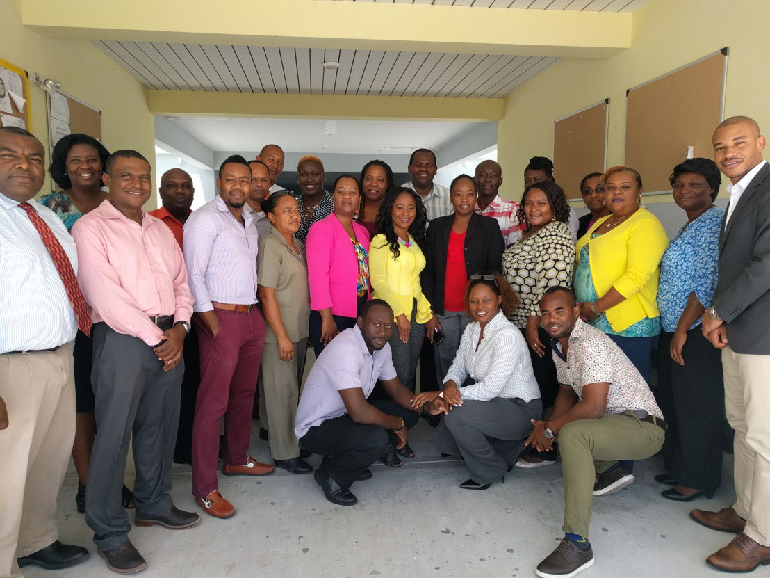 Educators and the CXC Notemaster implementation team in the Turks and Caicos Islands.