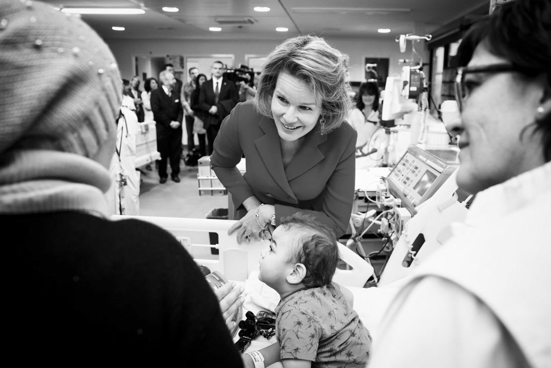 Persbericht: Koningin Mathilde brengt bezoek aan patiënten en personeel Universitair Kinderziekenhuis Koningin Fabiola