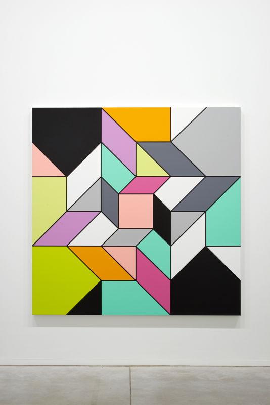 "Sarah Morris. Rose [Origami] (2014), Based on a crease pattern ""Rose"" by Nobory Miyajima<br/>(c) Dirk Pauwels"