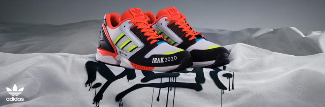 adidas Originals e IRAK NY se unen para diseñar dos versiones audaces de la silueta ZX 8000 - I de IRAK -