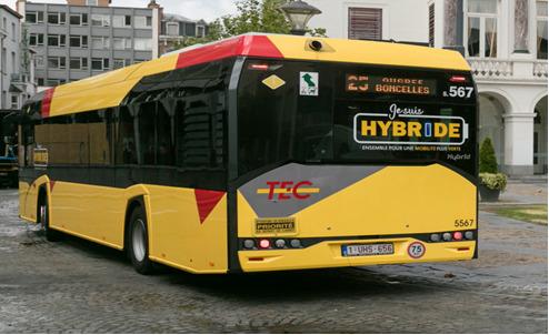 Preview: 162e véhicule hybride à la Direction Liège-Verviers du TEC !