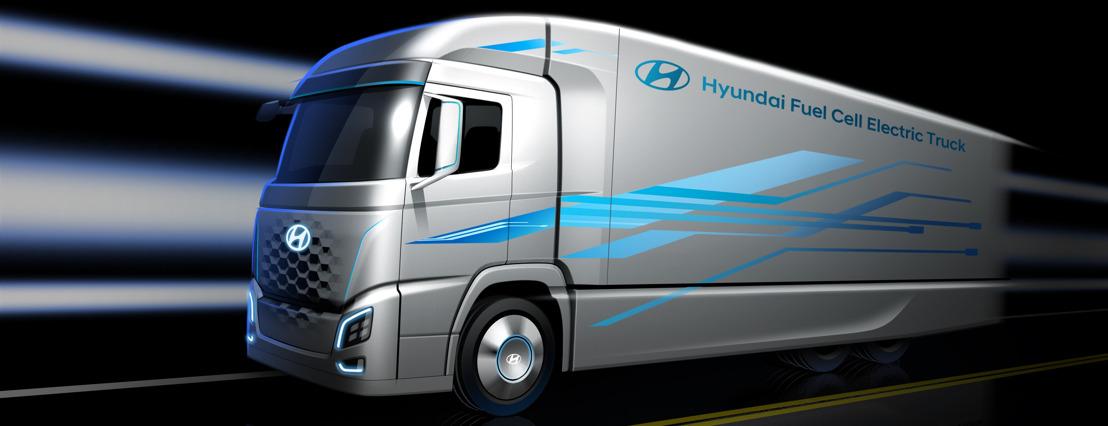 Hyundai présente en avant-première un nouveau camion équipé d'un groupe motopropulseur avec pile à combustible et ce avant l'annonce lors du salon IAA Commercial Vehicles 2018