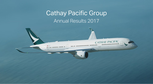 Cathay Pacific Airways Limited Announces 2017 Annual Results