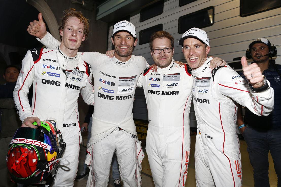 Shanghai (CN) 2016: Porsche Team: Brendon Hartley, Mark Webber, Andreas Seidl, Team Principal Porsche Team, Timo Bernhard (l-r)