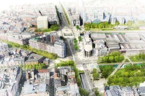 Meer plaats voor voetgangers, fietsers en openbaar vervoer op Sainctelette
