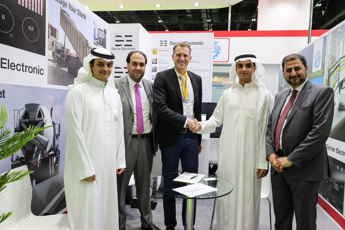 9. First Deal on-site<br/>The first deal made on-site was between Saudi-based Sarmix, and Austrian Dorner Electronic represented in the region by Deewan Equipment, for a complete automation system to be used at Sarmix ready-mix factories.<br/>Stand Z5 E40