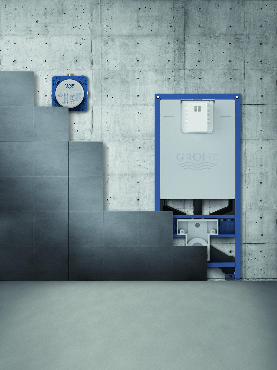 GROHE Slim Cistern inbouwreservoirs, dé WC-oplossing voor compacte badkamers