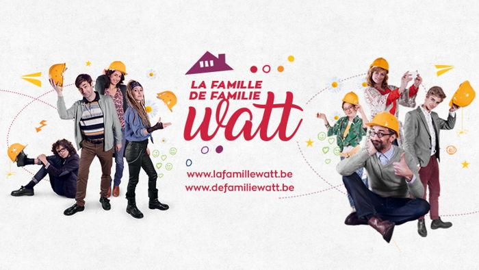 Preview: La famille Watt. Une websérie en travaux avec Luminus